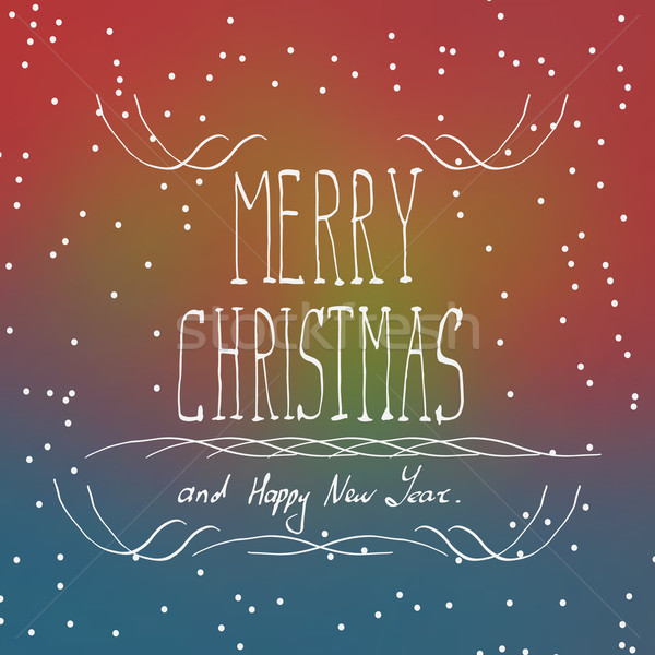 Рождества типографики почерк текстуры счастливым краской Сток-фото © logoff