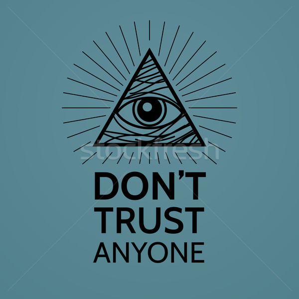Concept with Eye of Providence Stock photo © logoff