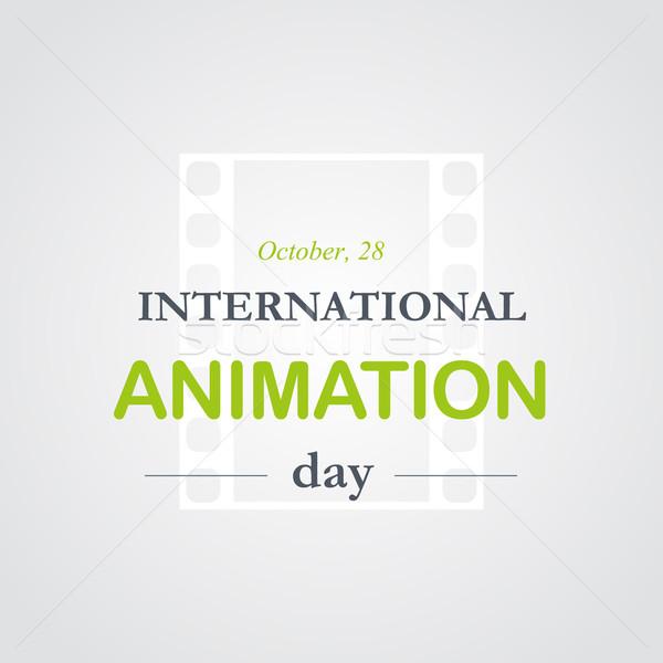 World animation day, October, 28 Stock photo © logoff