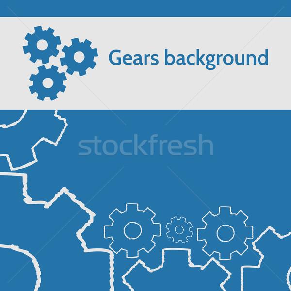 Vektor terv sebességváltó üzlet papír keret Stock fotó © logoff