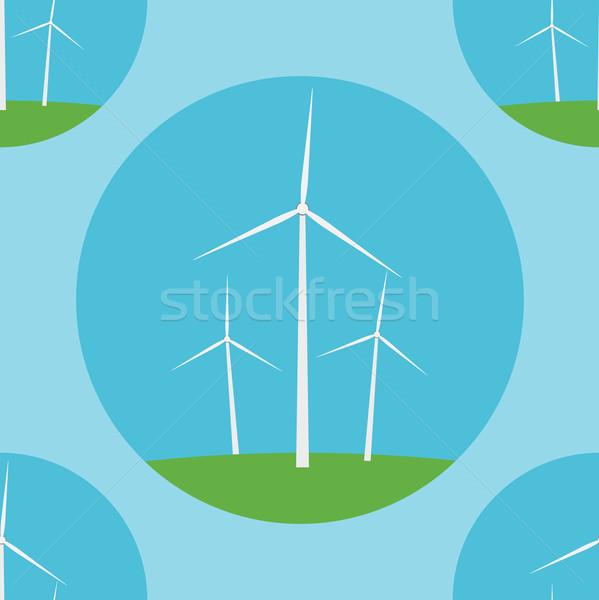 背景 ファーム エネルギー シルエット 風 ストックフォト © logoff