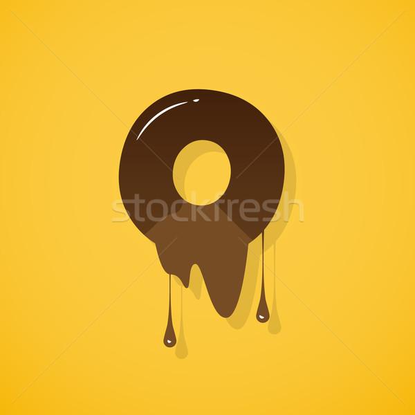 Сток-фото: шоколадом · письме · вектора · желтый · темно
