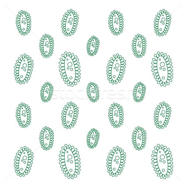 Vektor vírus végtelen minta absztrakt orvosi terv Stock fotó © logoff