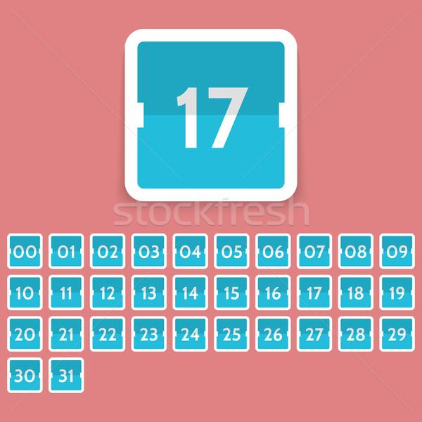 Calendar icon set Stock photo © logoff
