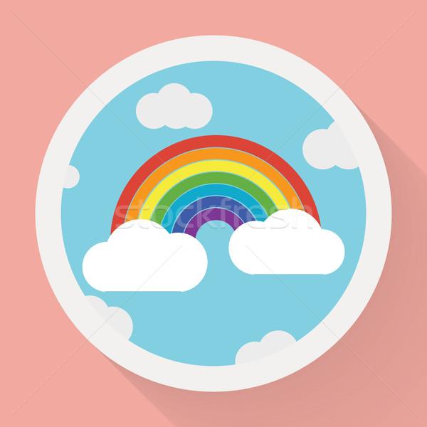 цвета радуга облака стиль небе аннотация Сток-фото © logoff