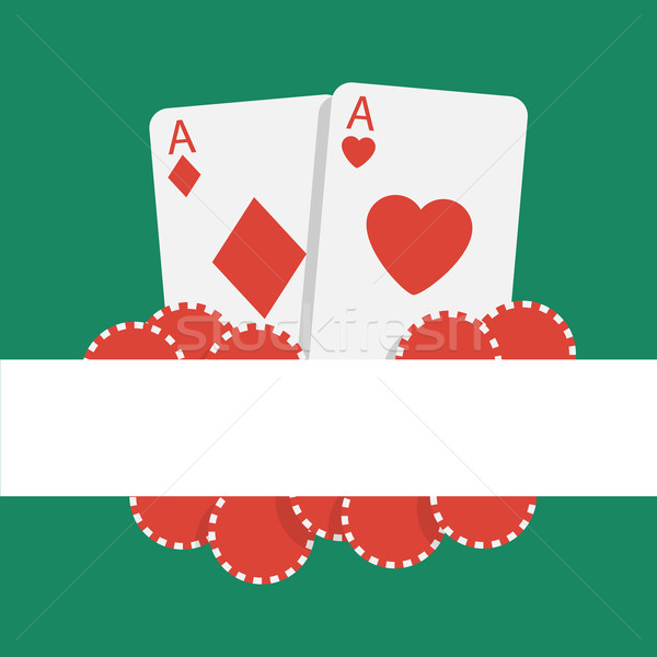 Vektor póker kártyapakli sültkrumpli absztrakt szív Stock fotó © logoff