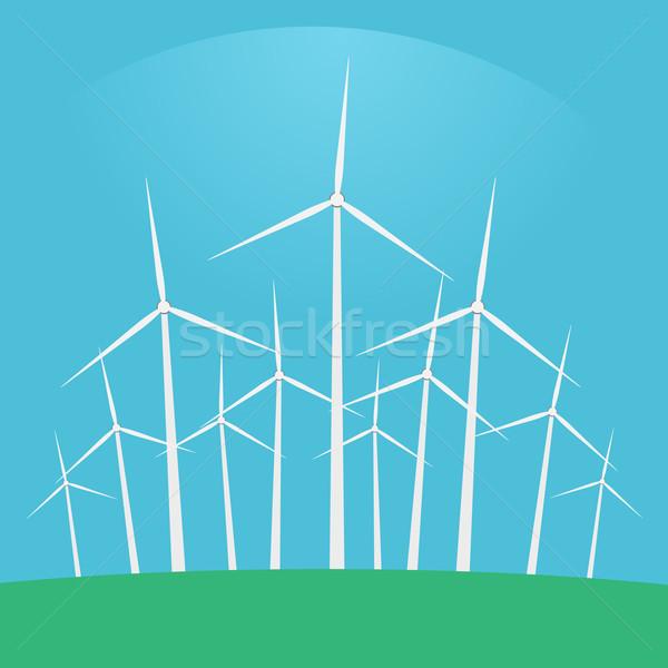 Wind turbines Stock photo © logoff