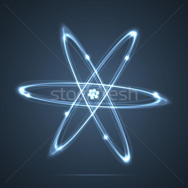 Shining atom Stock photo © logoff