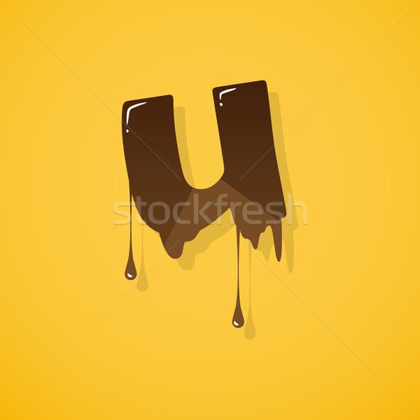 チョコレート 手紙 ベクトル 暗い 白 書く ストックフォト © logoff