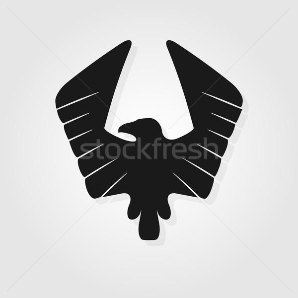 орел символ дизайна знак Перу черный Сток-фото © logoff
