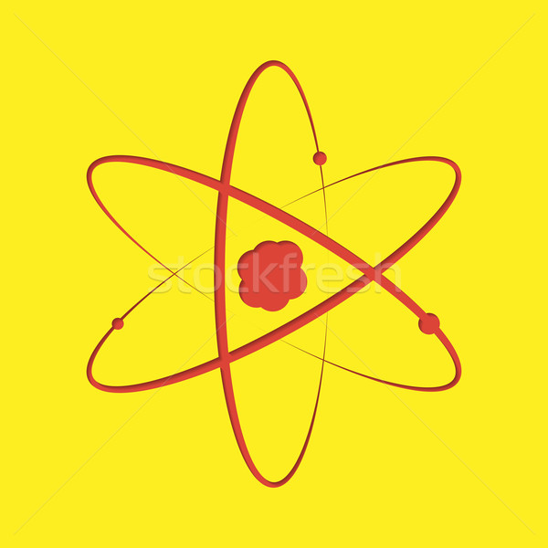 Atom cut-out Stock photo © logoff