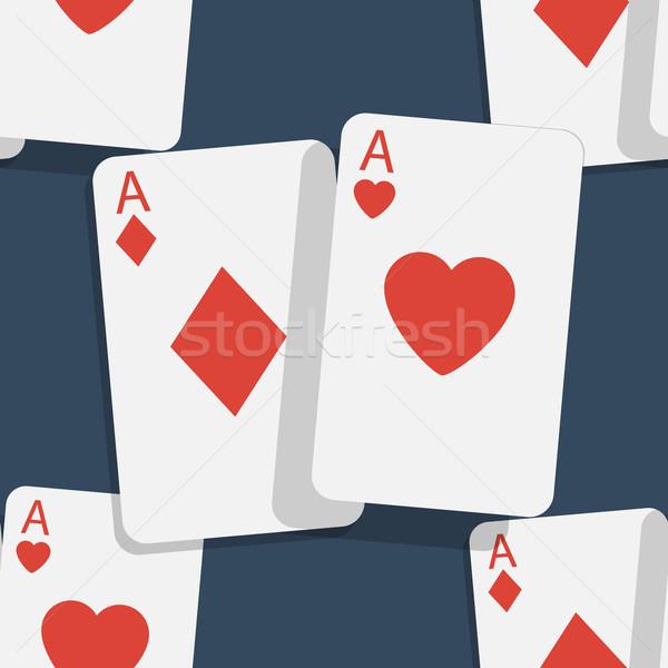 カジノ ポーカー シームレス 紙 家 顔 ストックフォト © logoff