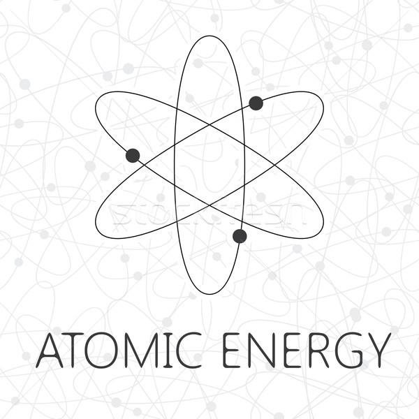 атом иллюстрация бесшовный модель технологий фон Сток-фото © logoff