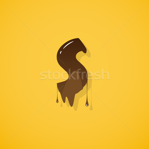 Csokoládé levél vektor sötét fehér ír Stock fotó © logoff