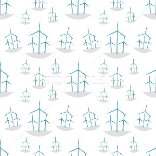 Zöld ökológia végtelen minta művészet ipari felhő Stock fotó © logoff