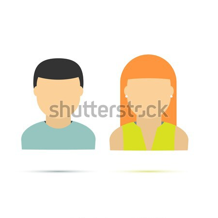люди иконки человека женщину коллекция волос Сток-фото © logoff