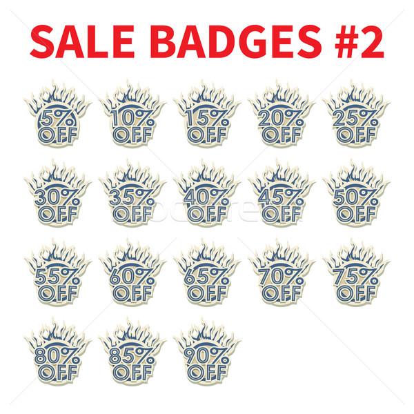 セット 巨大な 販売 バッジ 10 ショッピング ストックフォト © logoff