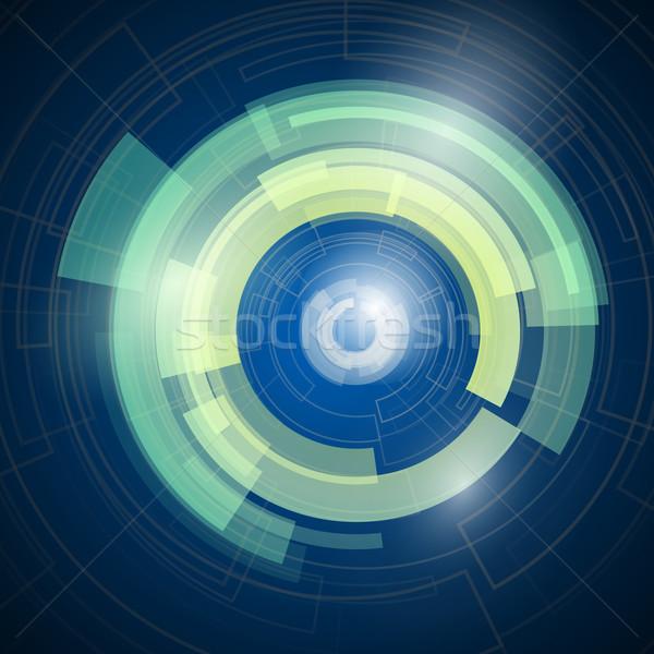 Absztrakt vektor kör terv technológia energia Stock fotó © logoff