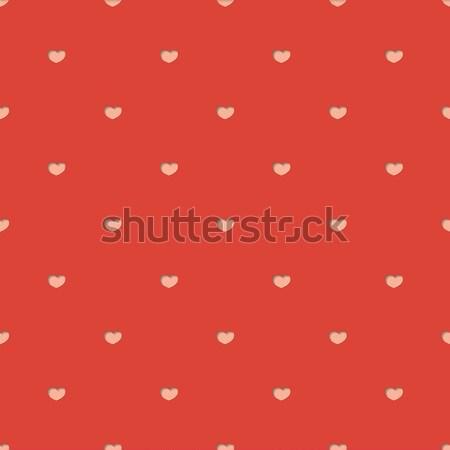 Végtelen minta illusztráció szívek papír szív terv Stock fotó © logoff