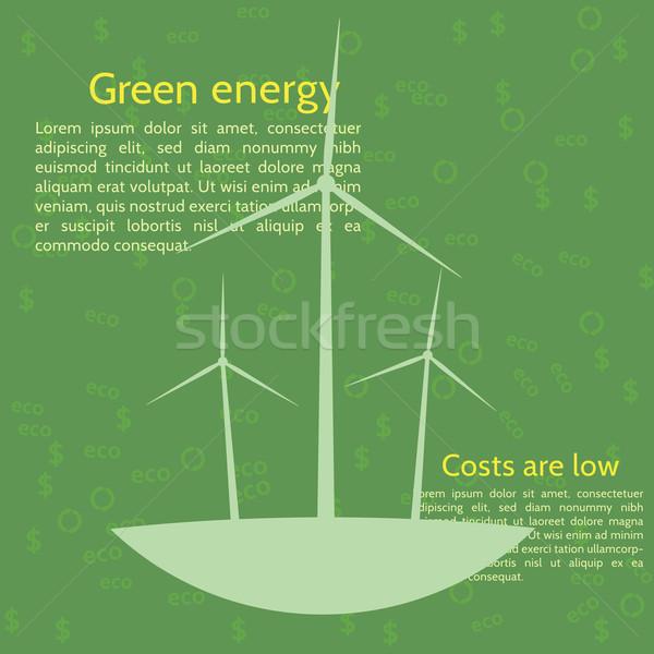 ветровой турбины экология плакат аннотация природы будущем Сток-фото © logoff