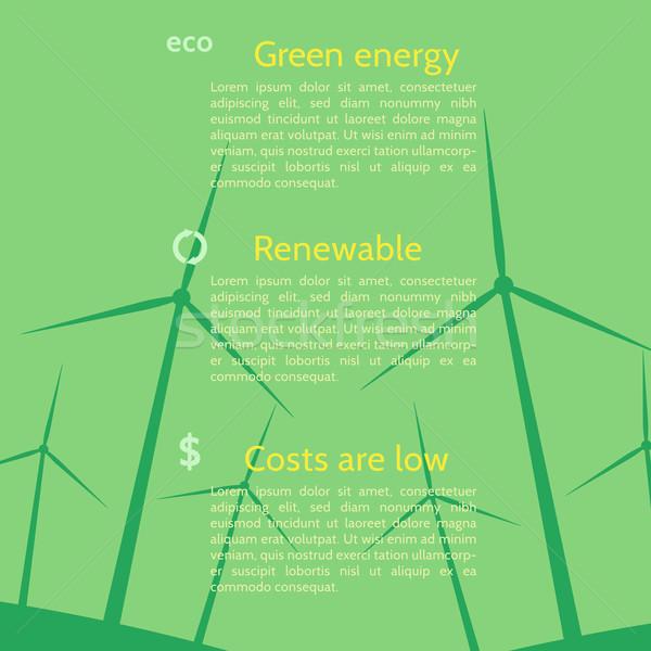 экология плакат бизнеса природы домой Сток-фото © logoff