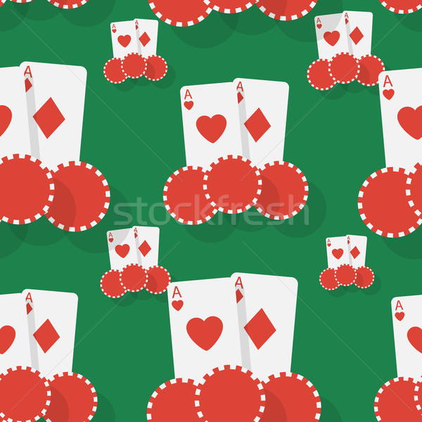 カジノ ポーカー シームレス 紙 顔 抽象的な ストックフォト © logoff