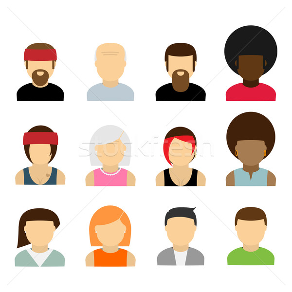 Emberek ikonok ikon szett különböző gyűjtemény üzlet Stock fotó © logoff