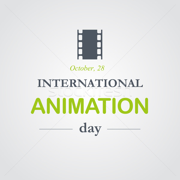World animation day, October, 28 Stock photo © logoff