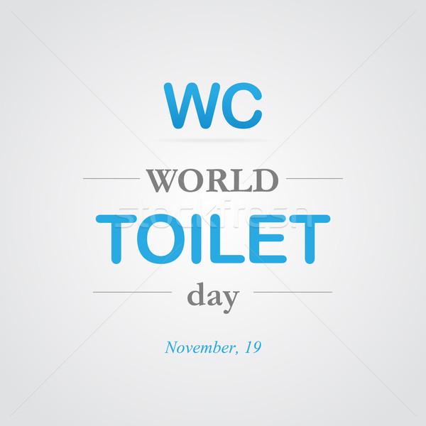 Мир туалет день стиль линия иллюстрация Сток-фото © logoff