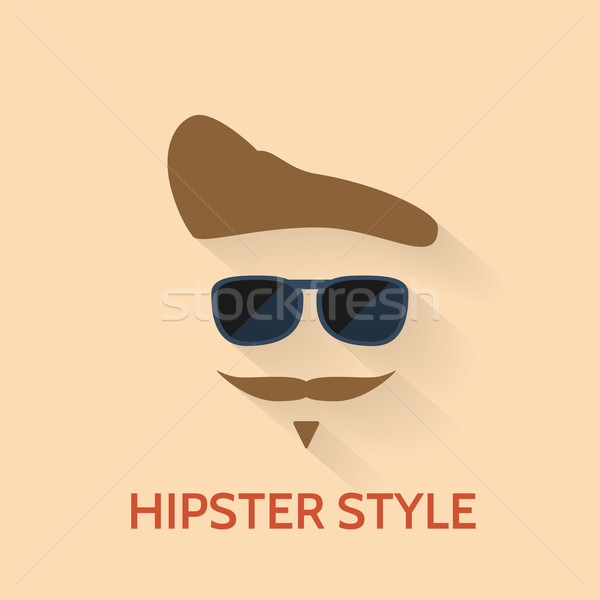 Sunglasses, hairs and mustaches. Vector Illustration Stock photo © logoff