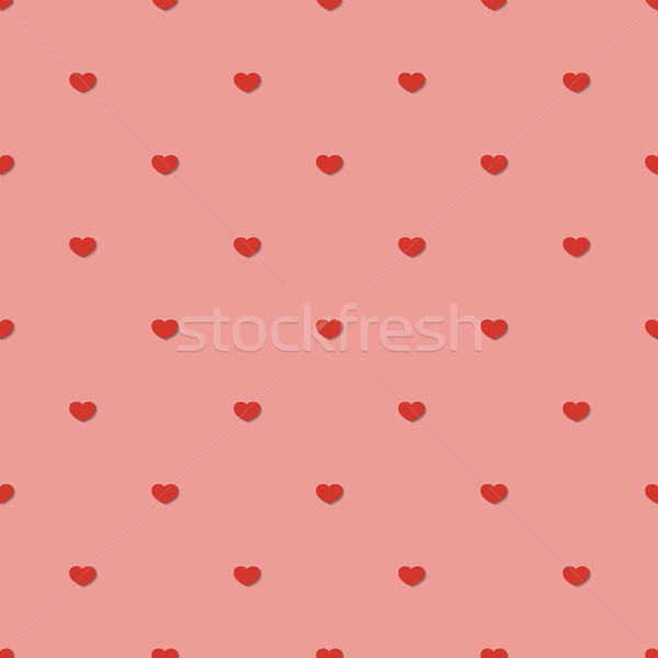 Végtelen minta illusztráció szívek divat absztrakt szív Stock fotó © logoff