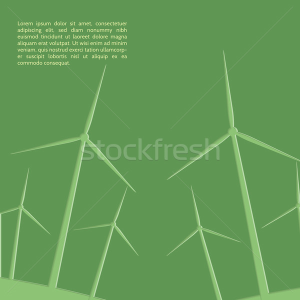зеленый бумаги фон промышленности фермы Сток-фото © logoff