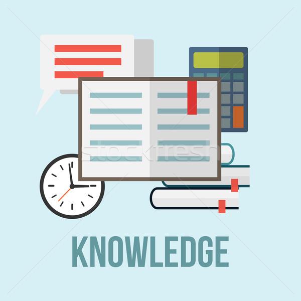 Сток-фото: знания · книгах · письме · пузыря · речи · интернет
