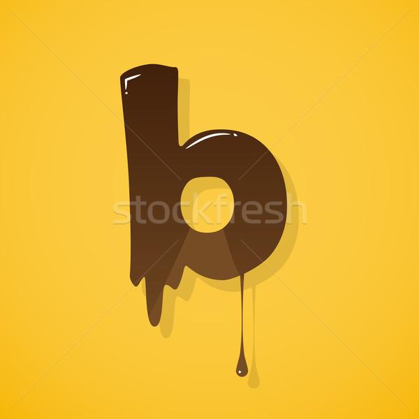 チョコレート 手紙 ベクトル 暗い 書く 食べる ストックフォト © logoff