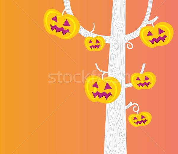 Хэллоуин дерево тыква голову вечеринка сейчас Сток-фото © lordalea