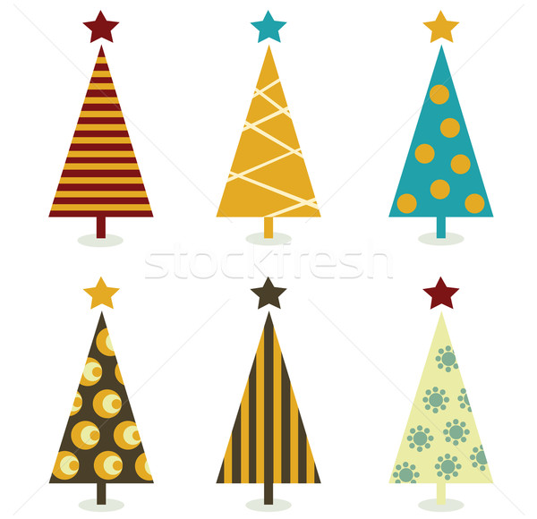 Retro Christmas Tree Elements  Stock photo © lordalea