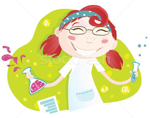 Químico laboratório aviso menina experiência Foto stock © lordalea