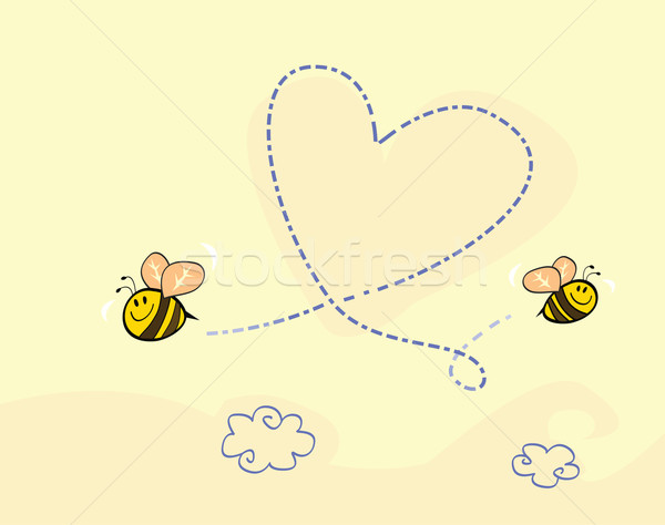 Bee's Heart  Stock photo © lordalea