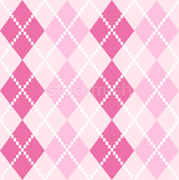 Pink seamless Argyle Pattern for Valentines day Stock photo © lordalea