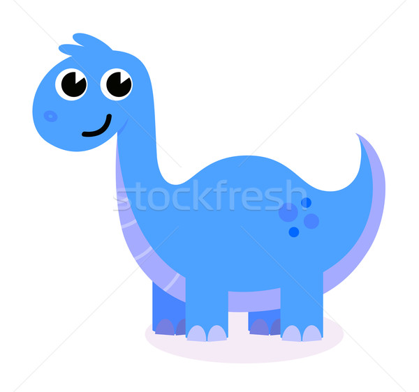 Cute blue Dinosaur isolated on white Stock photo © lordalea