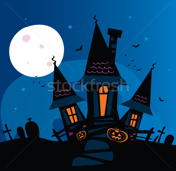 Haunted Scary House  Stock photo © lordalea
