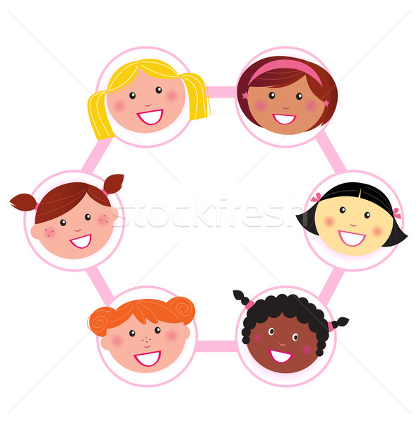 Unity - multi cultural woman group union / network  Stock photo © lordalea