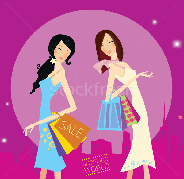 Shopping Duo  Stock photo © lordalea