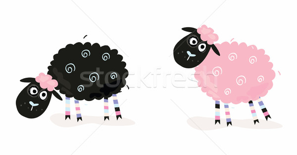 Cartoon Sheep  Stock photo © lordalea