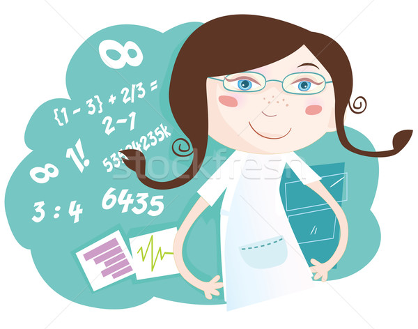 Math Girl  Stock photo © lordalea