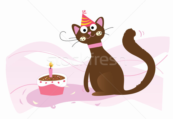 Happy Birthday, Cat!  Stock photo © lordalea