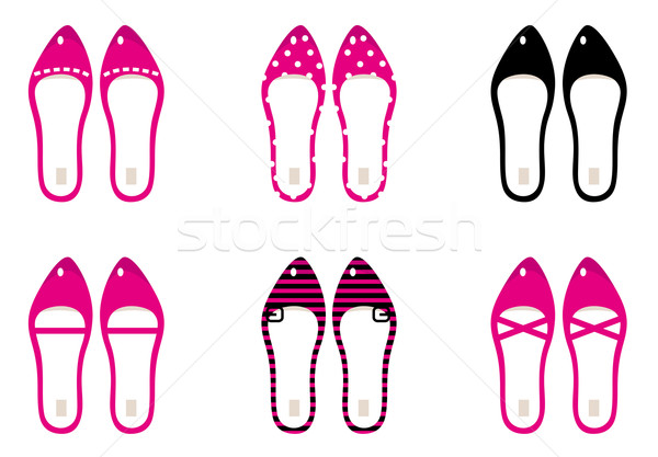 Beautiful lady shoes isolated on white ( pink ) Stock photo © lordalea