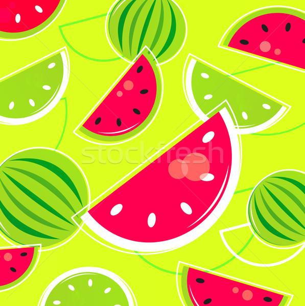 Fresche estate melone retro pattern rosa Foto d'archivio © lordalea