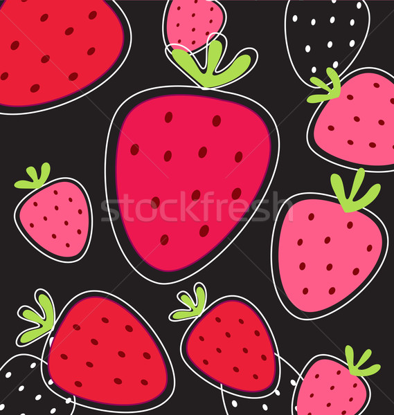 Stylized Red Strawberry Texture  Stock photo © lordalea