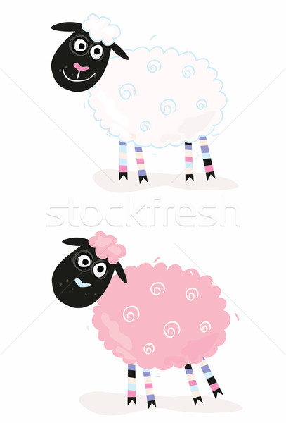 Cartoon Sheep  Stock photo © lordalea